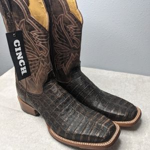 Cinch CFW-146  Exotic Brown Western Caiman Boots 10.5 B